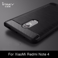 Case Ipaky Carbon Fiber Xiaomi Redmi Note 4X Softcase Shockproof TPU