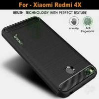 Case Ipaky Carbon Fiber Xiaomi Redmi 4X Softcase Shockproof TPU