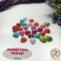 Mutiara Belah / Mutbel Love / Hati Pelangi 10mm mix warna per pack