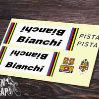 Stiker & Decal Frame Sepeda Bianchi Pista