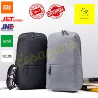 Tas Xiaomi Sling Bag - Tas Selempang - Backpack - Ransel - Original - Abu Abu Muda