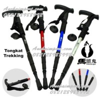 Tongkat Hiking, Tongkat Gunung, Trekking Pole Anti Shock, Tongkat daki