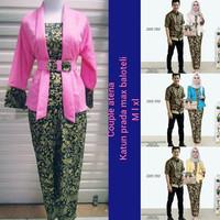 Baju Batik Couple Kebaya Batik Atena Set Rok panjang Hem Kemeja Cowok