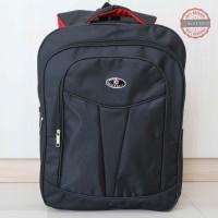 Tas Ransel Backpack Elite Polo Besar Hitam Sekolah Seminar Kerja Keren