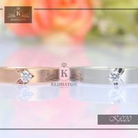 cincin kawin palladium dan emas putih k131