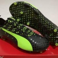 Sepatu Bola - Soccer Puma evoPOWER Vigor 1 Black Green - FG