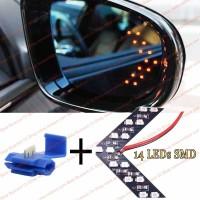 Lampu Sen Led Sein Spion Mobil 14 Leds Car Side Mirror Turn Signal