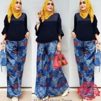 Setelan Batik Baloteli Setelan Kulot Batik Muslim Fashion