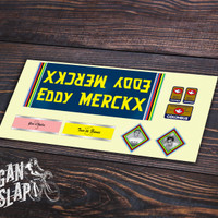 Sticker Decal Frame Sepeda Eddy Merckx Vintage
