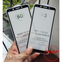 Oppo F5 / F5 Youth Ambigo Tempered Glass 5D Full Cover - Hitam
