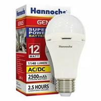 Lampu LED Emergency Hannochs Genius 12W 12watt 12 watt Bohlam Magic
