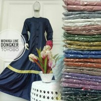 Gamis dress monika line toyobo import kancing