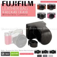Fujifilm X-A10 / XA10 Leather Bag / Case / Tas Kamera - Cokelat