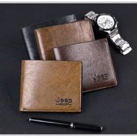 Dompet Pria Kulit Import / Jeep Men Short Wallet | DJ-01
