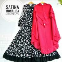 Produksi Baju Muslim #seragamSyari monalisa safina black mix cerutty
