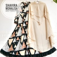 Produksi Baju Muslim #seragam Syari monalisa shavira black mix cerutty