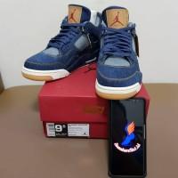 Nike Air Jordan 4 x LEVI'S Blue Denim