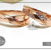 cincin kawin emas putih couple k132