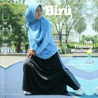 Celana Rok Wanita Hitam-Biru/Rok Training Muslimah