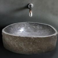 Wastafel Batu Alam Ukuran Besar (Natural Colour) / Natural Wash Basin