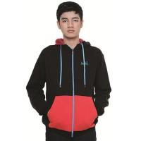 Jaket Pria Hoodie Hitam Merah - IF147
