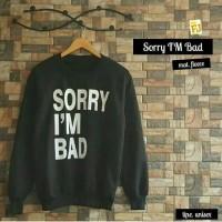 SORRY I'M BAD SWEATER / SORRY IM BAD / JAKET KOREA / UNISEX / SWEATER