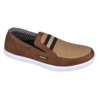 Sepatu Slip On Casual Pria Coklat Catenzo NT 042