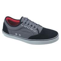 Sepatu Sneaker / Kets / Casual Pria Kanvas Hitam Abu Catenzo - BA 5011