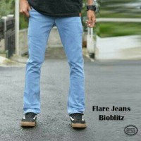 CELANA JEANS CUTBRAY BIOBLITZ / FLARE JEANS / CUT BRAY / BOOTH CUT