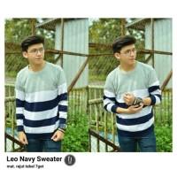 LEO NAVY SWEATER / SWEATER LEO NAVY / JAKET RAJUT / KNIT