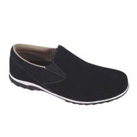 Sepatu Casual Pria Slip On Kulit Suede Hitam Catenzo - MR 749