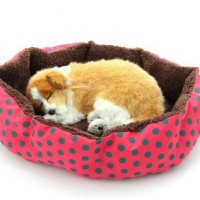 Tempat Tidur Kasur Bed Kucing Anjing Puppy Kitten Cat Polkadot Lucu