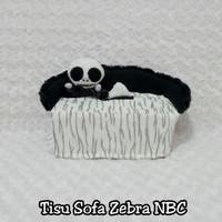 Tempat Tisu Mobil Model Sofa Motif New Zebra NBC