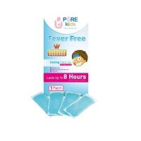 Pure Kids Fever Free Cooling Patch Gel isi 4