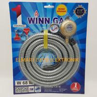 Winn Gas paket regulator dan selang fleksibel W68M