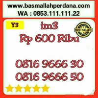 Nomor Cantik im3 10 digit seri triple 666 0816 9 6 6 6 30 rapih Y5 603