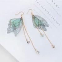 anting panjang fashion korea dangling earring butterfly wing jan125