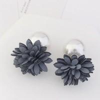 anting fashion korea stud earring bunga mutiara flower pearl jan122