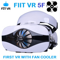 FIIT VR 5F Headset With Fan Cooler VR & 3D Virtual Reality Glasses