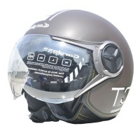 Cargloss YR Protect Helm Half Face - Espresso Brown