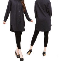 Denim Blouse SONIA / Blus Denim / Blus Wanita / Atasan Wanita / Baju