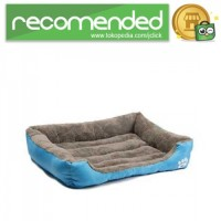 Tempat Tidur Anjing Empuk - Biru - Size XL