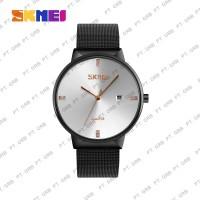 Jam Tangan Pria Analog SKMEI 9164 Silver Water Resistant 30M