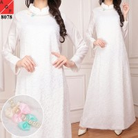 Baju Dress Muslim Gamis PREMIUM QUALITY White SERIES
