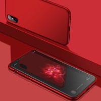 Cafele iPhone X Case - Anti Fingerprint Jelly TPU Premium - Hitam