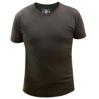 Grass Men's Baju Kaos Oblong T-shirt Pria Slim Fit Polos Cokelat