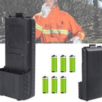 Battery case AA untuk HT Baofeng UV-5R series