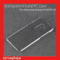 Clear Hard Case Casing Transparan Samsung Galaxy S9 Plus