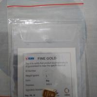 logam mulia Antam 1gram Emas sertifikat 2018