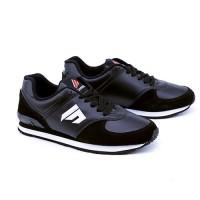 Sepatu Sneakers Pria Hitam Suede Leather Garsel Shoes